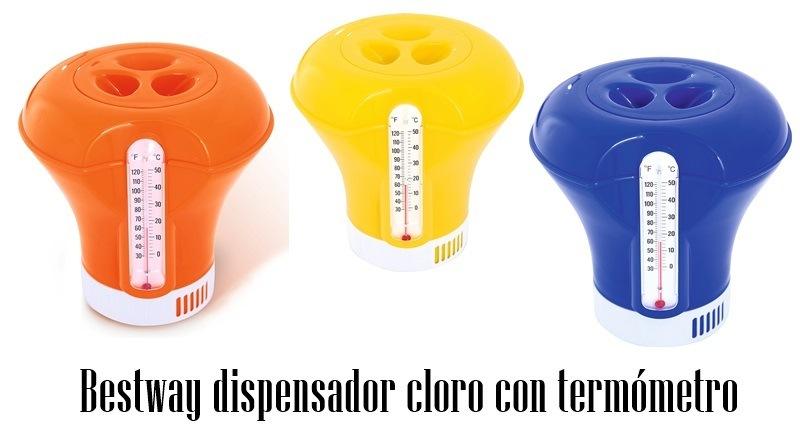 Bestway dispensador cloro con termómetro