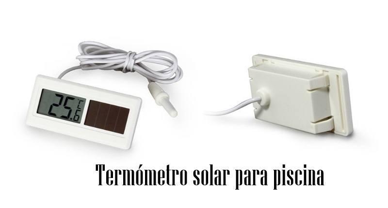 Termómetro solar para piscina